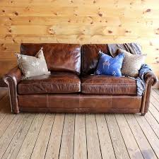 Esther Roll Arm Leather Sofa
