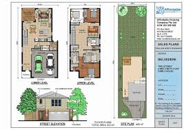 100 Simpsons House Plan Narrow Mediterranean S Two Story Duplex Of Simpson