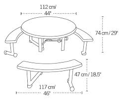 lifetime round picnic tables 2127 44 inch almond top w benches 8 pack
