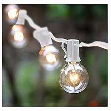 g50 patio string lights with 25 frosted white globe