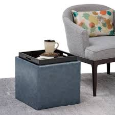 WYNDENHALL Townsend Cube Storage Ottoman with Tray Free Shipping