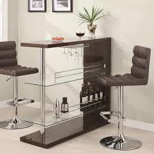 Coaster Contemporary Computer Desk by Bar Units And Bar Tables Rectangular Bar Unit With 2 Shelves And