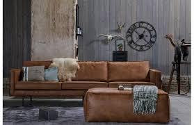 canapé cuir fauve canapé vintage cuir marron clair 3 places aspen canapé miliboo