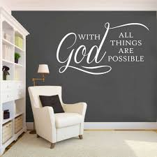 Wall Mural Decals Canada by Religious With God Decal Vinyl Wall Lettering Wall Quotes