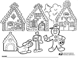 Gingerbread House Coloring Pages Printable Within Page