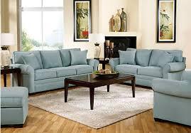 Cindy Crawford White Denim Sofa by Hm Richards Furniture