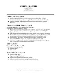 Career Objective Of Experienced Administrative Assistant With Resume Example Wnad Education In Towson University