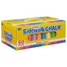 Amazon.com: POOF 60pc. Sidewalk Chalk: Toys & Games