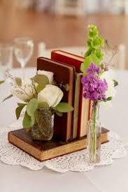 Real Weddings Alyssa Mark Book CenterpiecesBook Centrepiece WeddingVintage