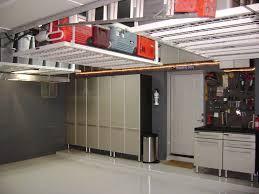 warm wooden shelves rustic brick wall spacious garage storage