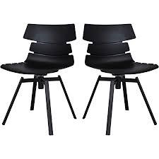 mokebo drehstuhl der kuriose schwarz metall im 2er set als stuhl esszimmerstuhl oder designer stuhl mit drehgestell 2er set mattschwarz