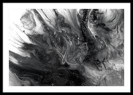 Saatchi Art Artist MARIE ANTUANELLE Painting Black And White Ocean Abstract