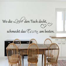 wandtattoo küche wo die liebe den tisch deckt esszimmer