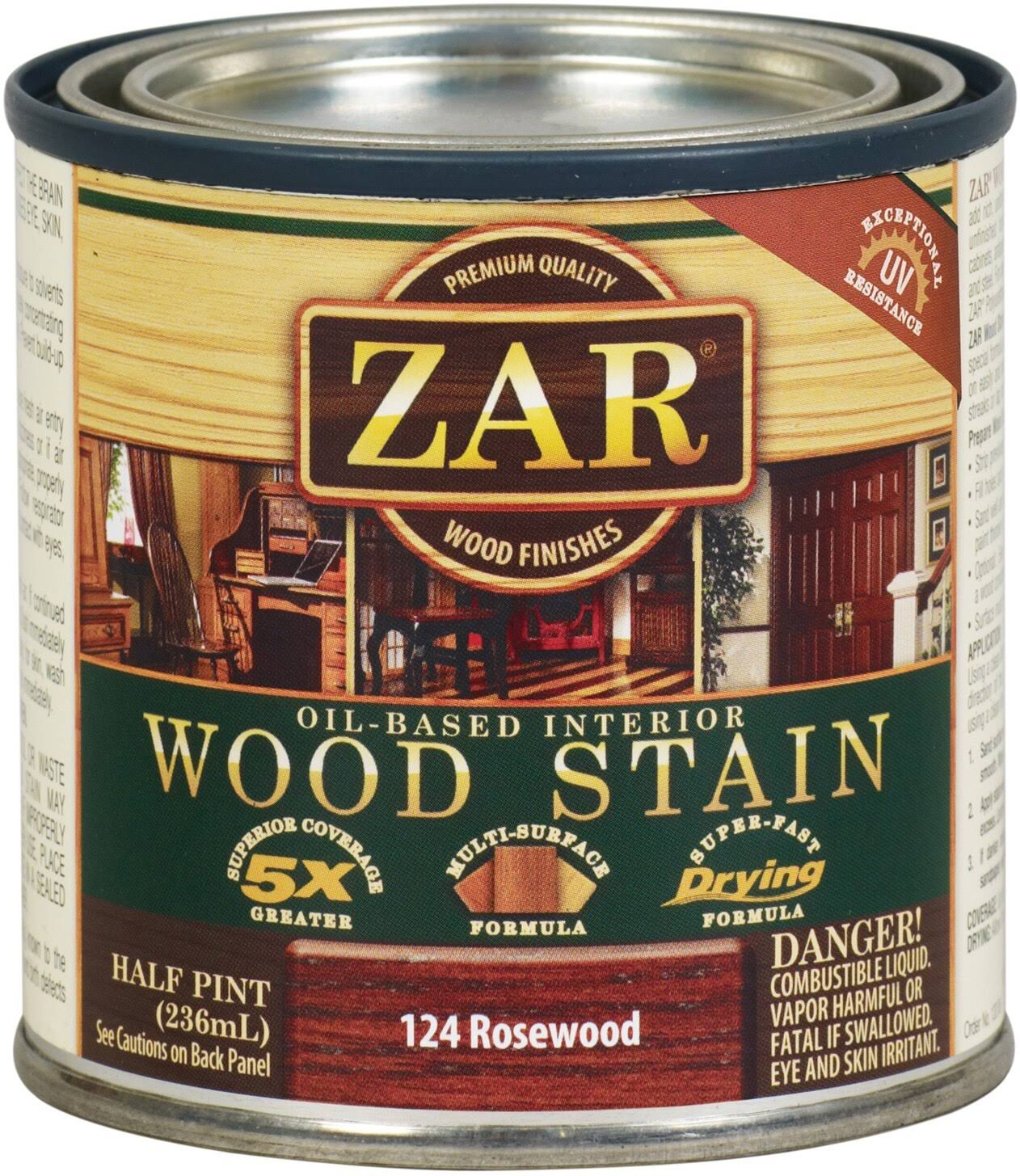 Zar United Gilsonite Half Pint Rosewood Oil Based Wood Stain - Rosewood, 1/2pint