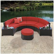 Outdoor Sectional Sofa Big Lots by Wilson U0026 Fisher Melrose 5 Piece Cushioned Curved Sectional At Big