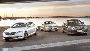 Skoda Superb Volkswagen Passat and Subaru Liberty 2016 review