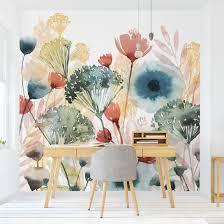 tapete selbstklebend wildblumen im sommer i fototapete