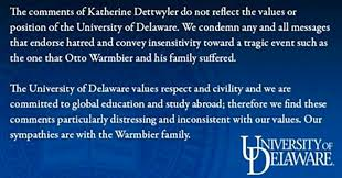 You Pumpkin Pie Hair Cutted Freak by University Of Delaware Professor Fired For Saying Otto Warmbier