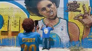 warriors championship mural by the illuminaries youtube