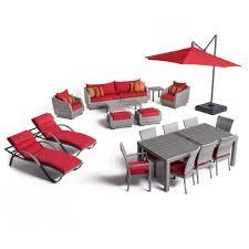 Patio Furniture Conversation Sets Home Depot by Rst Brands Cannes Estate Wicker 20 Piece Patio Conversation Set