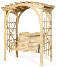 Wooden Arbors And Hanging Swing