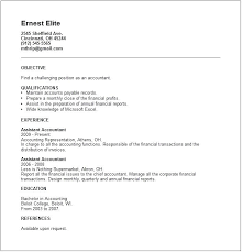 Resume Examples Templates Junior Accountant Example Free Collection For Best