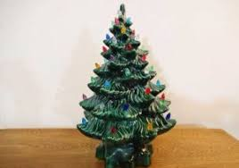Vintage Ceramic Christmas Tree 16 Table Top Lighted Concept Of Mini Led