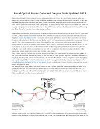 Zenni Optical Promo Code And Coupon Code Updated 2015 By Linda Linda ...