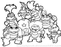 Super Mario Brothers Characters Coloring Page