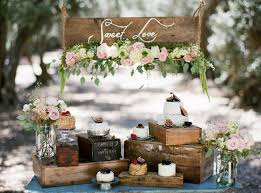 Rustic Wedding Cake And Dessert Table 7