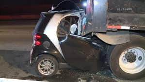 Smart Car Crashes Into Back Of Dump Truck On 405 Freeway - NBC ... 2013 Electric Smtcar Be Smart Album On Imgur Snafu A Smart Car Made Into A 4x4 2017 Smtcar Hydroplane Wreck Smart Unloading From Semi At Rv Park Youtube Smashed Between 1 Ton Flat Bed Truck Large Delivery Page 3 Jet Powered Yes Jet Powered 2016 Fortwo Nypd Edition Top Speed 7 Premium Gps Navigation Video Fm Radio Automobile Truck Fortwo Coupe Cadian And Rental