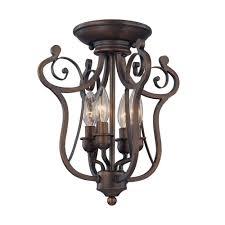 millennium lighting 4 light rubbed bronze candle semi flush mount