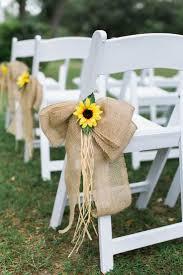 Sunflower Burlap Chair Decor