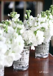 White Stock Centerpieces Is Cheap But Its A Spring Flower Comes In