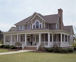 Beautiful Porch Of The House by Country Home Designs With Wrap Around Porch Best Home Design