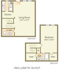 1br15ba townhome