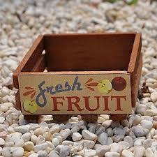 Miniature Fairy Garden Wooden Crate