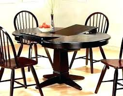 Dining Table With Leaf Round Room Tables Leaves Kitchen Overwhelming Roun