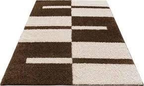 my home hochflor teppich gavin rechteckig 30 mm höhe grafisches design wohnzimmer braun esszimmerteppiche teppiche nach räumen