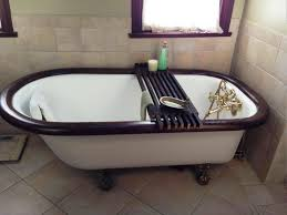 Teak Wood Bathtub Caddy by Bathroom Outstanding Teak Bathtub Caddy Inspirations And Clawfoot