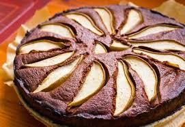 omas fein gewürzter schokoladen birnen kuchen