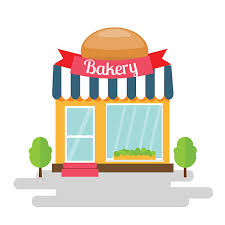 Bakery shop of flat style building Vector illustration vector art illustration