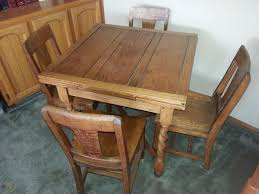Antique Draw Leaf Pub Table & Chair Set | #1784983397