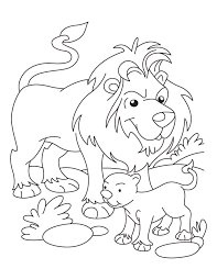 Lion And Cub Coloring Page