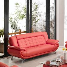 Tip Top Furniture Curve Leather Sofa in Red $918 99