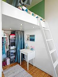 platform bed with storage underneath in an nyc building where her