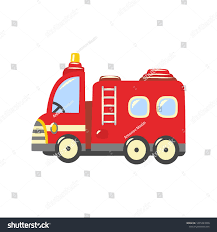 Fire Truck Emergency Vehicle Icon Red Stock Vector (Royalty Free ...