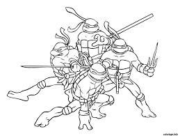 Coloriage Tortue Ninja 2 JeColoriecom