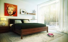 Including Cheerful Picture Of White Classy Bedroom Design And Decoration Using Red Marilyn Monroe Wall Decor
