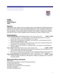 Free Military To Civilian Resume Builder Valid Template